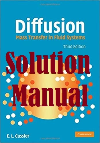 حل المسائل کتاب انتقال جرم در سیستم های سیالی کاسلر CUSSLER