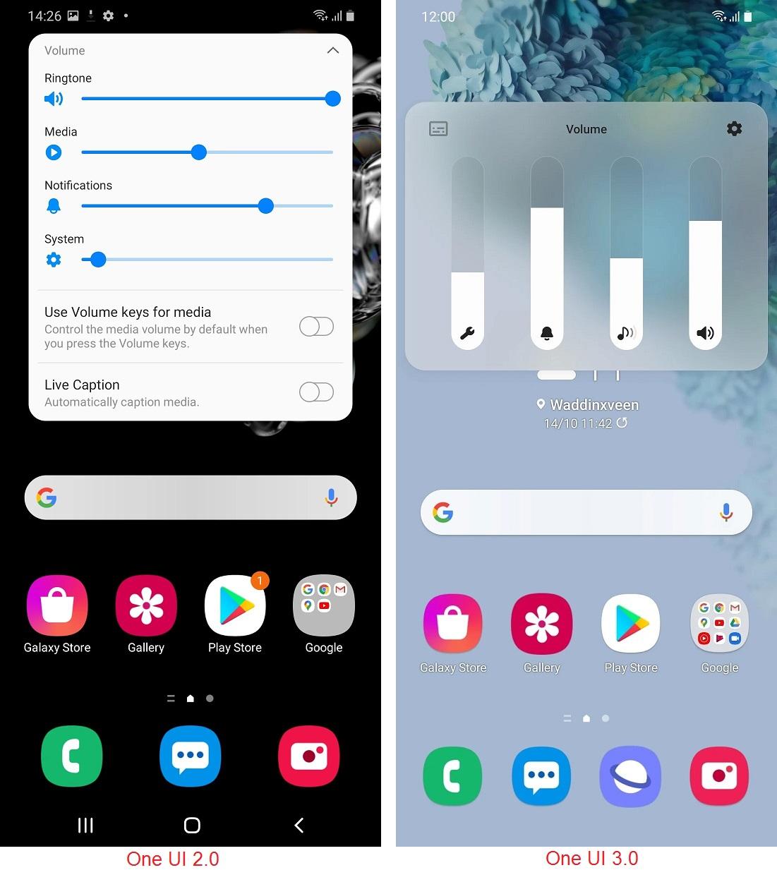 تغییرات رابط کاربری One UI 3.0