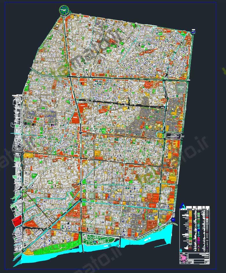 دانلود رایگان نقشه اتوکد منطقه یک 1 اصفهان dwg autocad + طرح تفضیلی و طرح جامع