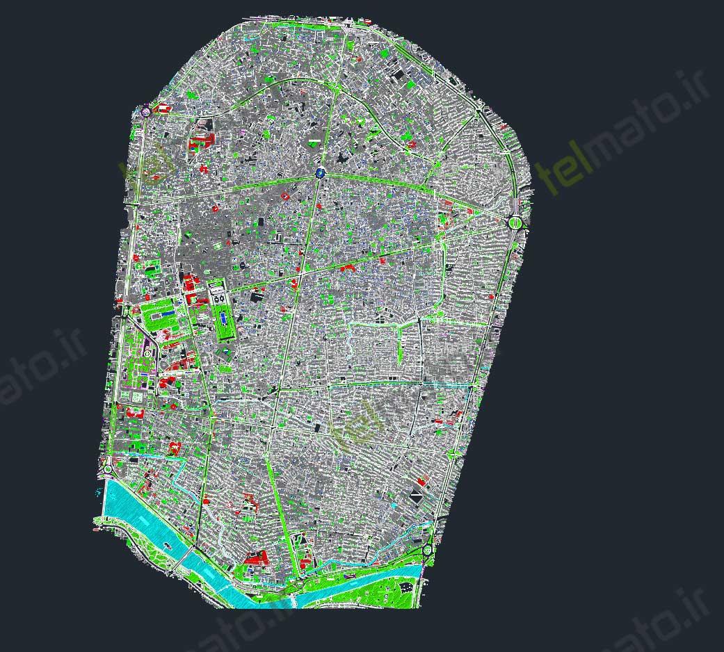 دانلود رایگان نقشه اتوکد منطقه سه 3 اصفهان dwg autocad + DWG طرح تفضیلی و طرح جامع قابل ویرایش تلماتو