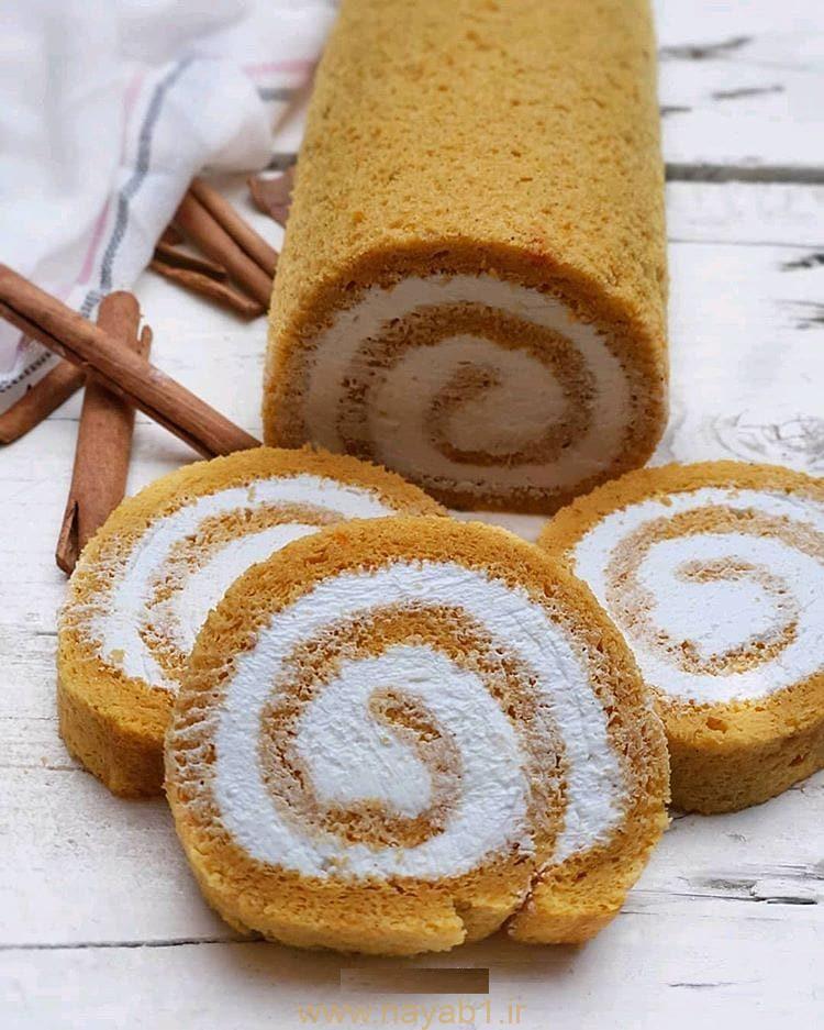 آموزش تهیه شیرینی رولت کدو حلوایی خوشمزه