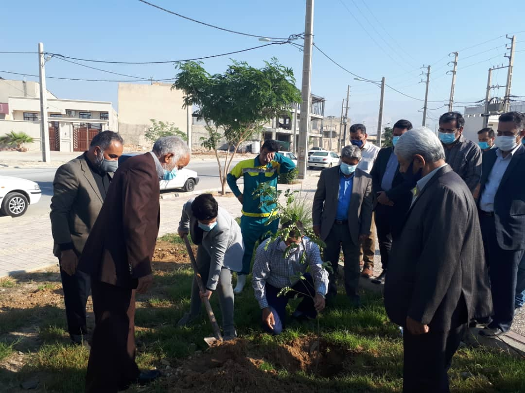 برگزاری مراسم درختکاری یادبود مهندس پورجم