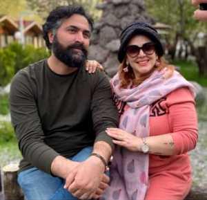 بهاره رهنما و همسرش در حال تفريح کردن