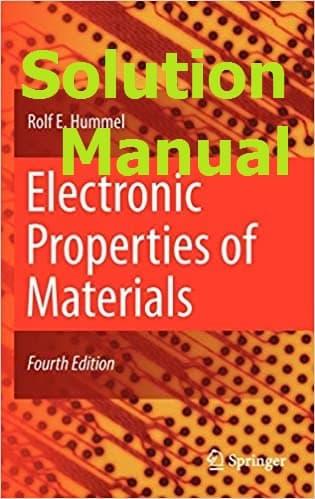 حل المسائل کتاب خواص الکترونی مواد رولف هامل ROLF HUMMEL