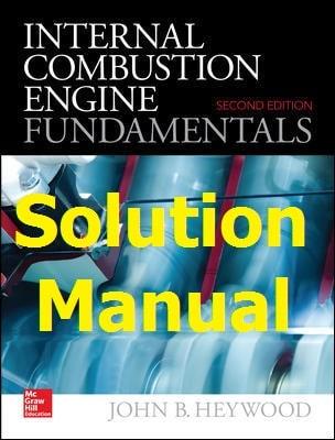 دانلود حل المسائل کتاب مبانی موتورهای احتراق داخلی جان هیوود JOHN HEYWOOD