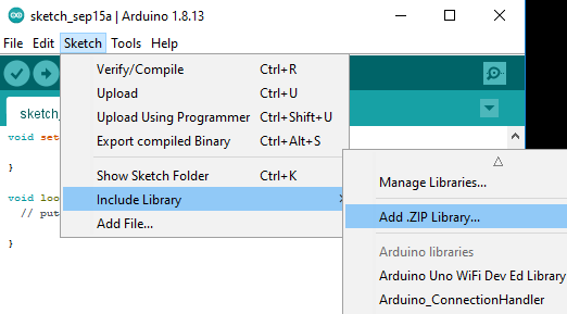 add zip library