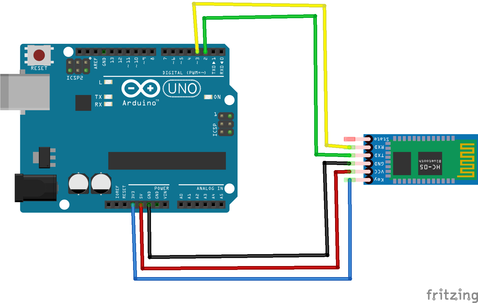 shematic bluetooth arduino at command