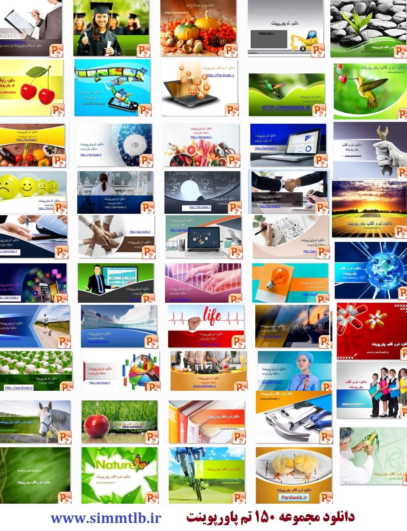 دانلود 150 قالب پاورپوینت علمی و گوناگون