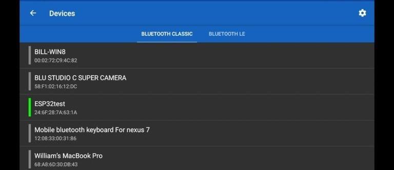 bluetooth search