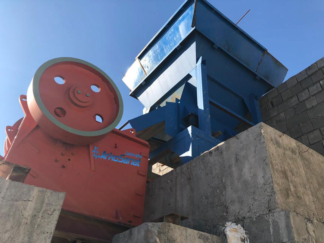 فک 65 در 45 خط تولید سنگ شکن دست دوم و کارکرده