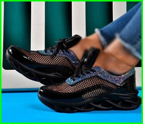 کفش اسپرت طرح طوری براق ورنی دخترانه زنانه