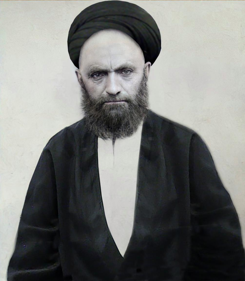 سومین عکس بازسازی شده آقا سید علی قاضی طباطبایی رحمت الله علیه
