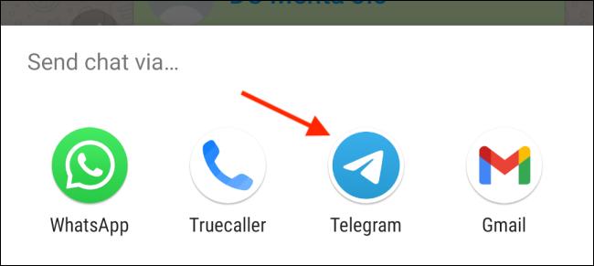 انتقال چت از واتساپ به تلگرام 6