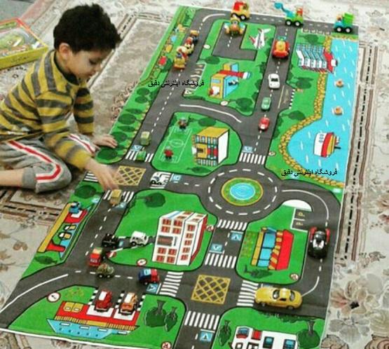شهر کودک پارچه ای با ماشین