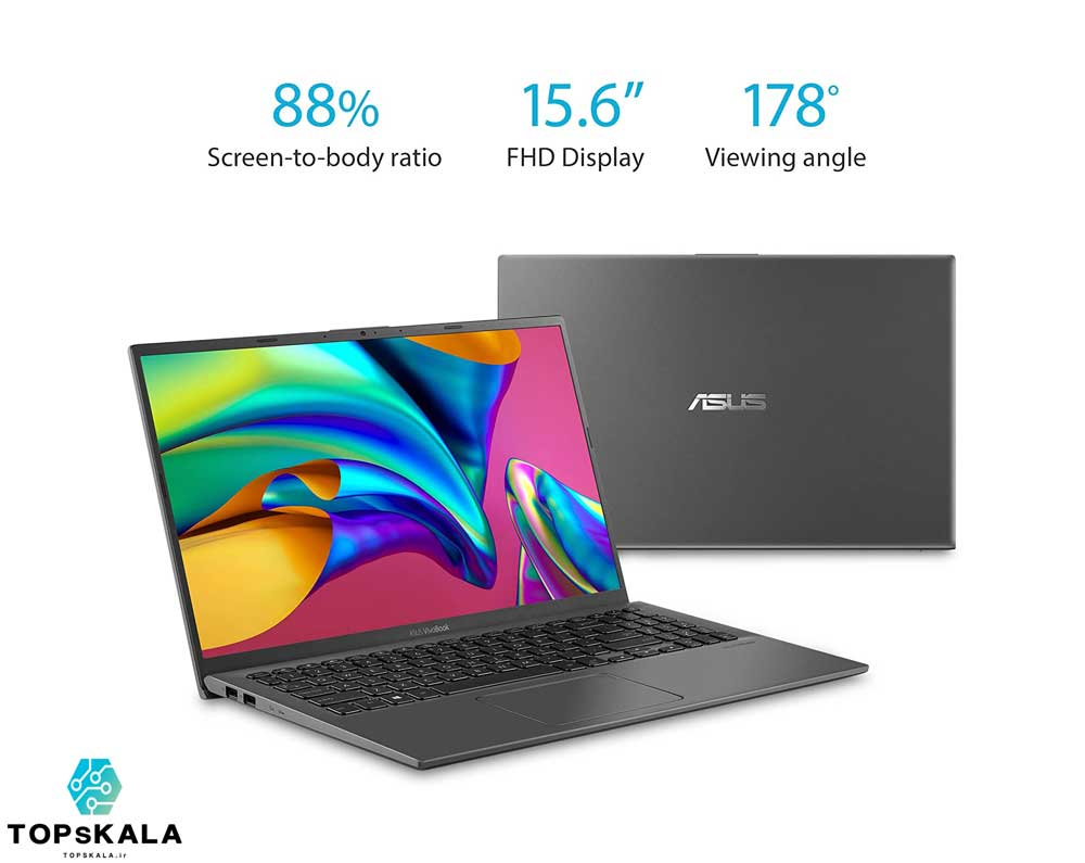 لپ تاپ آکبند ایسوس مدل ASUS F512J با مشخصات Intel core i3 1005G1 - intel UHD  دارای مهلت تست و گارانتی رایگان / محصول ASUS