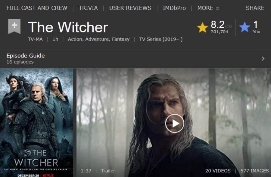 IMDB سریال ویچر
